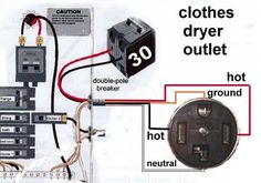 3 prong dryer outlet wiring diagram electrical wiring pinterest rh pinterest com how to wire a dryer plug wiring a dryer plug 3 prong