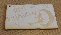 Halloween Wooden Gift Tag Gift Idea Label Beech by AtelierRaniera, $10.00