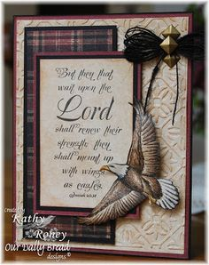 ODBDSLC151 Cherish God's Creations Stamps - Our Daily Bread Designs On Eagles Wings