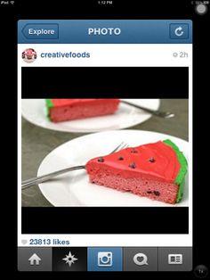 Delicious watermelon cake!