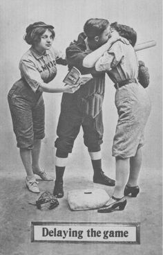 Postcards that combined romance with the sport of baseball were popular in the early 20th century.  | The National Pastime Museum