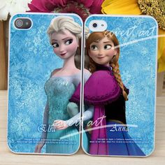 elsa and anna frozen disney couple  for iPhone 4 / by CovertArtz, $30.00 we have to get these @Megan Maxwell