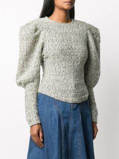 Types Of Sleeves, Sleeve Types, Leg Of Mutton Sleeve, Sweater Refashion, Isabel Marant, World Of Fashion, Wool Blend, Women Wear, Turtle Neck