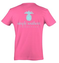 """*Simply Southern """"Preppy Pineapple"""" T-shirt Simply Southern Shirts, Preppy Southern, Printed Tees, Short Sleeve Tee, Pineapple, My Style, Mens Tops, T Shirt, Yup"""