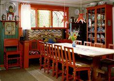 larsson real dining room via loobylu Carl Larsson's Inspirational Interiors