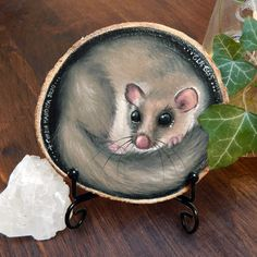 This miniature painting of a fat dormouse, or edible dormouse (Glis glis) would be a cute addition to your nature home decor or a lovely gift for someone you care about. What's more, it is eco-friendly