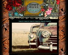 Gypsy Cowgirl Web Design Template