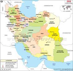 Political Map of Iran
