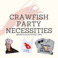 Crawfish Party Necessities! Everything from decorations to dressing the part, and items for the food!! Summer Activities For Kids, Kid Activities, Summer Kids, Crawfish Party, Crawfish Season, Fun Signs, Throw A Party, Dressing, Decorations
