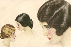 Hair styles from the 1920s