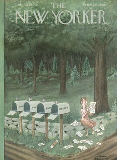 The New Yorker - Saturday, July 30, 1960 - Issue # 1850 - Vol. 36 - N° 24 - Cover by : Charles Addams