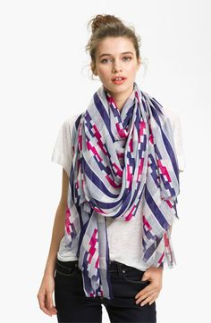 Those colors! Lulla Collection by Bindya 'Linked' Scarf available at #Nordstrom