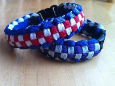 Triple weave paracord bracelet by FoxyKnots on Etsy