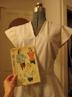 Simplicity 1782, View 3 #vintagepledge and #SpringForCotton