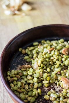 Oven Roasted Lima Beans with Garlic