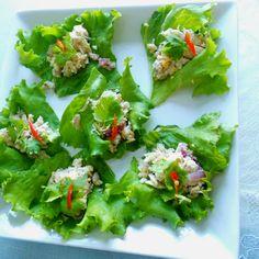 Bite size tuna salad appetizers