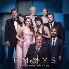 Game of Thrones cast members at Emmys 2015 won Best Drama Series, and Peter Dinklage won his 2nd Emmy for Outstanding Supporting Actor for a Drama Series.