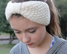 Chunky Knit Turban Headband Wool Ear by TinkerCreekHandknits