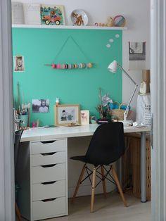 Mint corkboard idea for bedroom or dormroom!