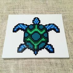 Turtle perler beads by let.there.be.pixels