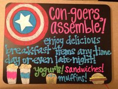 Con-goers Assemble! Dragon Con chalkboard