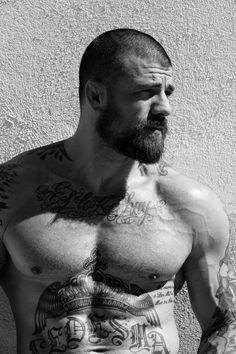 muscle man beard