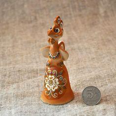 Купить Петушок-колокольчик - оранжевый, петух, петушок, колокольчик, подарок к Новому году, 2017 год