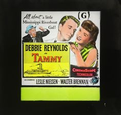 Tammy original film advertising glass slide, available through my website.