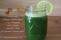 5 Green Juice Recipes For Beginners - Green Juice A Day - Kale Juice - Detox Juice Cleanse, Detox Juice Recipes, Green Juice Recipes, Juicer Recipes, Smoothie Recipes, Detox Foods, Detox Juices, Canning Recipes, Paleo Recipes