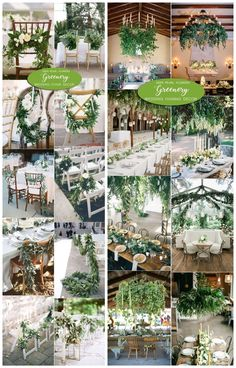 Greenery wedding decor ideas / #wedding #weddingideas #weddinginspiration #deerpearlflowers http://www.deerpearlflowers.com/greenery-wedding-decor-ideas/