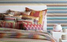 Missoni Home: Bedding, Table Linens,  More - Gilt Home. Create your own custom bedding with www.chimoraprint.com #digital #print #fabric