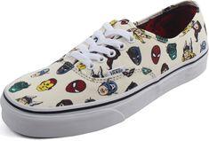Vans Authentic Marvel Heads Shoe Red Zone Shop