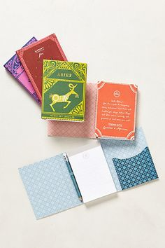 Zodiac Notepad #anthropologie