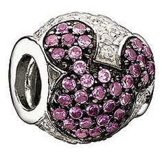 Jeweled Mickey Pink and Clear Cubic Zirconia