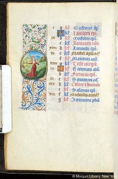 Book of Hours, MS S.5 fol. 10v - Images from Medieval and Renaissance Manuscripts - The Morgan Library & Museum