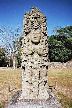 Maya Stele in Copan, Honduras