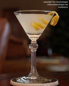 Favorite holiday cocktail for New Year's Eve: The Casablanca