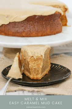 Our EASY CARAMEL MUD CAKE is just so simple to make. Melt, mix and bake… that's it! Smother with our yummy caramel frosting for the ultimate caramel mud cake! #caramel #mud #cake #easy #best #recipe #thermomix #conventional #frosting #baking #homemade