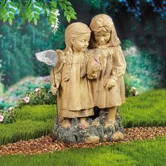 The Butterfly Collectors Garden Statue - OrientalTrading.com