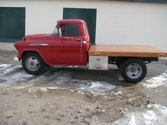 56 chevy truck dually | Chevrolet : Other Pickups 3800 1957 CHEVY 3800 FLATBED Completed