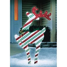 Celebrations 48in Lighted Striped 2D Deer (53380-71) - Outdoor and Window Décor - Ace Hardware