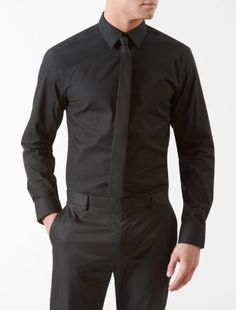 x fit ultra slim fit cotton stretch dress shirt - dress shirts- Calvin Klein