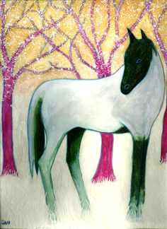 """Horses"" Spring Horse - Watercolor"