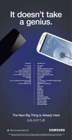 Samsung attacks iPhone 5 in new ad - Excelente anuncio con comentarios interesantes en la nota que lo acompaña.