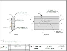 Bulldozer Bed (PLANS ONLY) in downloadable pdf format. A project you can build so your little one can transition to a big-kid bed they will love to sleep in!  This bulldozer bed design is sized for a twin size mattress. The plans include many detailed diagrams and instructions, explaining each step very clearly.