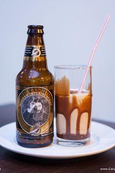 Milkshake usando a cerveja Old Rasputin, Russian Imperial Stout, 9% ABV, 75 IBU.... TopD+ esse Milkshake.Parabéns equipe da produção.Foto@Rogerio Volgarine