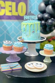 Check out this awesome Fortnite birthday party! The cookies are fantastic! See more party ideas and share yours at CatchMyParty.com