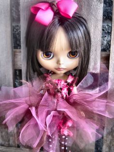 ... molly BROWN and PINK 4 pc Tutu bloomers halter bow set for BLYTHE doll