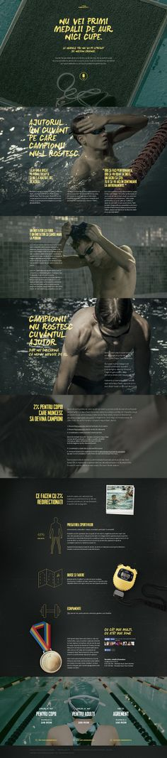 Fundraising Campaign for Aqua Team Swimming Club by Horia Manolache, via Behance