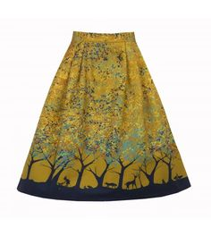 Elspeth Forest Skirt in Mustard Breastfeeding Clothes, Stylish Clothes For Women, Novelty Print, Tie Dye Skirt, What To Wear, Organic Cotton, Style Inspiration, Mustard, My Style